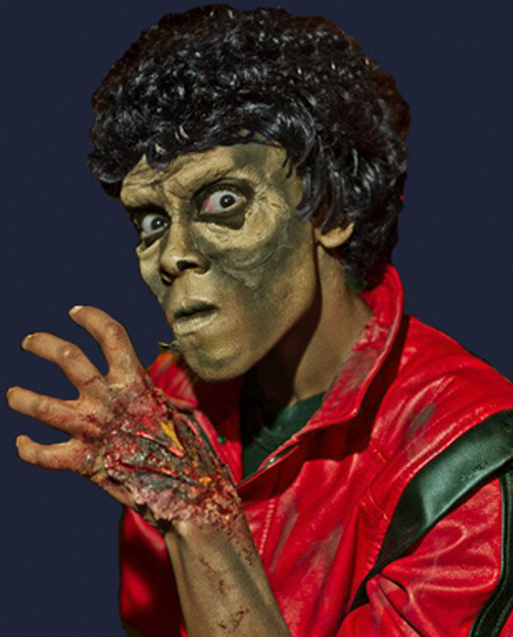 Makeda Davis as Michael       Jackson in Thriller