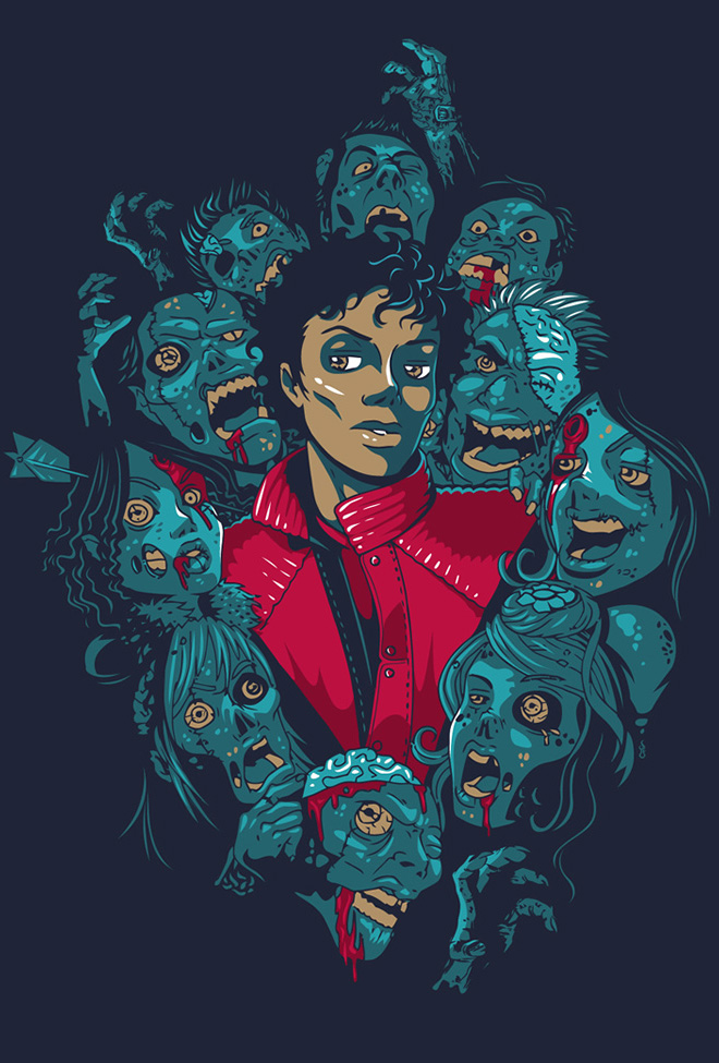 Michael Jackson Thriller illustration